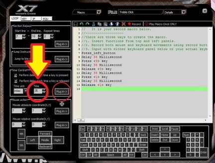 Setting Mouse Macro A4Tech XL-747H/F4 Untuk SG/AWP Game PointBlank