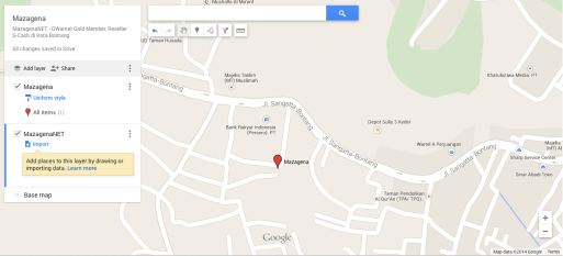 Mazagena Map dengan new Maps Google