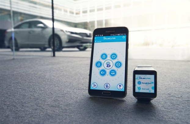 Blue Link Smartwatch App Starting Hyundai Car Powered by Google