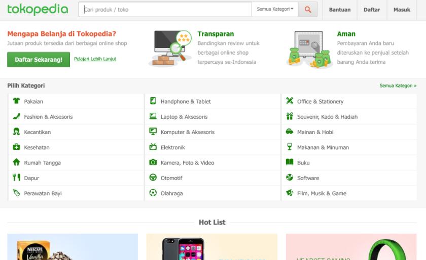 tokopedia Toko Online Indonesia
