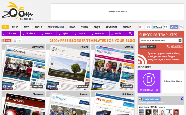 Situs Download Blogger Template Gratis